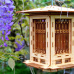 Unique Prairie Style 3D Puzzle Wooden Bird Feeder Kit