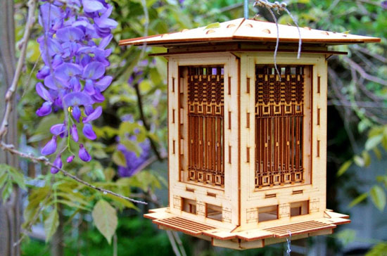Unique 3D Puzzle Wooden Bird Feeder Kit