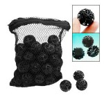 50 Black Aquarium Fish Tank Filter Bio-Balls Filtration for Oxygenating The Water and Gas Exchange Process