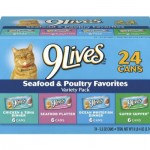 9Lives Seafood and Poultry Variety Pack Offers 24-Cans Affordable Cat Food