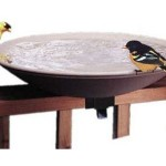 API 645 Bird Bath Bowl with Tilt-to-Clean Deck Rail Mounting Bracket : Simply Tilt To Dump Dirty Water Out