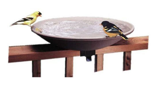 API 645 Bird Bath Bowl with Tilt-to-Clean Deck Rail Mounting Bracket
