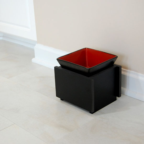 Modern Asian Style Elevated Cat Bowl by Trendy Pet