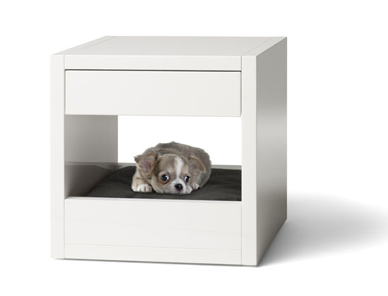 Bloq Pet Bed and Side Table by Binq Design