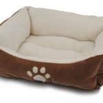 Brinkmann Pet Paw Print Pet Bed Features Soft Padding, High Walls and Cute Design