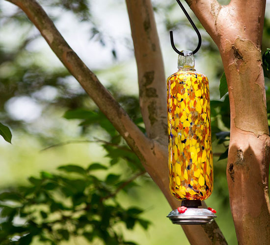 Beautiful and Colorful Carnival Hummingbird Feeder
