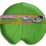 Cats Rule Lilypad Splash and Crumb Catcher Mat Keeps Your Floor Clean from Cat Food Crumbs