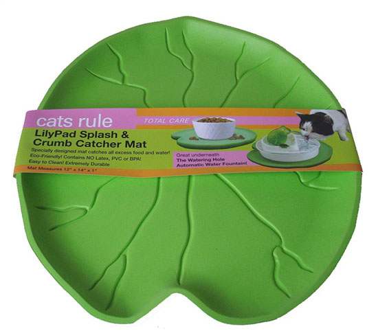 Cats Rule Lilypad Splash and Crumb Catcher Mat