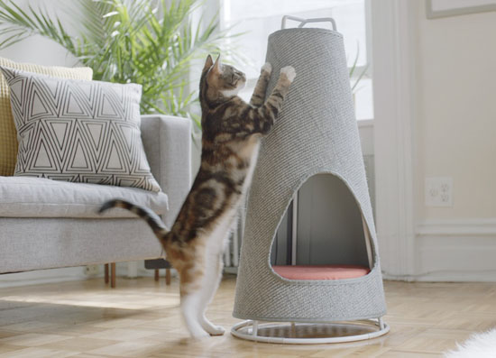 Cone : Modern Scratching Post And Cat Bed In One By WISKI
