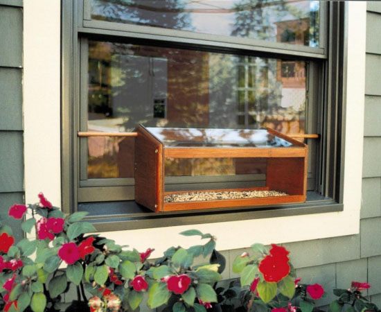 Coveside Mahogany Windowsill Bird Feeder