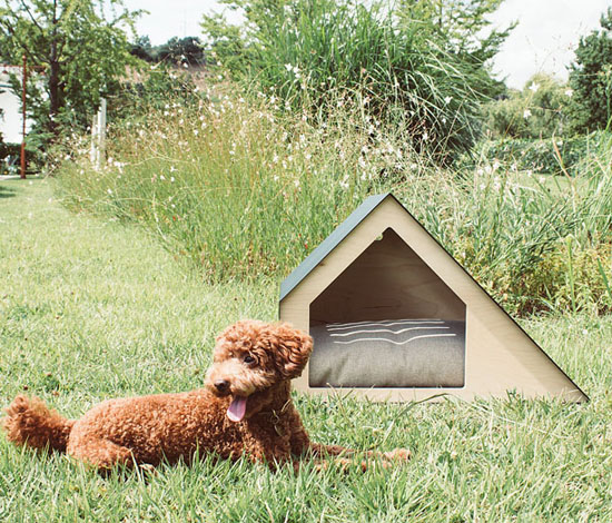 Modern Deauville Dog House with Ventilated Roof and Angular Structures by Bad Marlon Design Studio