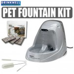 Drinkwell Platinum Pet Fountain Starter Set Provides Free Falling Water Stream to Keep Your Pet Hydrated