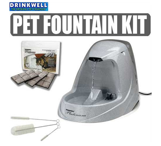 Drinkwell Platinum Pet Fountain Starter Set