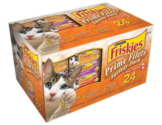 Friskies Cat Food Prime Filets Meaty Selections 24-count Variety Pack