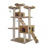 Go Pet Club Cat Tree Condo Scratcher Is A Nice Cat Gym Furniture for Obese Cats