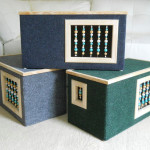 Modern Beaded Wooden Cat House Is Carefully Hand Crafted with High Quality Materials