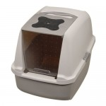 Hagen Catit Hooded Cat Litter Pan : Big Litter Box with Plastic Door Swings