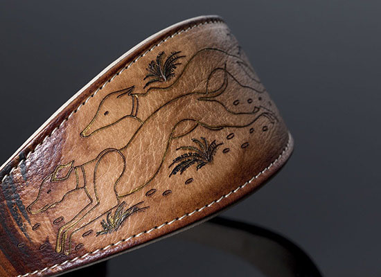 Hand-Painted Greyhound Collar by Riccardo Malucchi