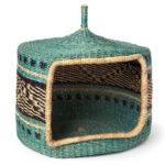 Hand Woven Grass Pet House Adds Warm Touch of Nature in The Room