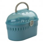 IRIS Small Animal Carrier with Transparent Ventilated Roof and Carrying Handle