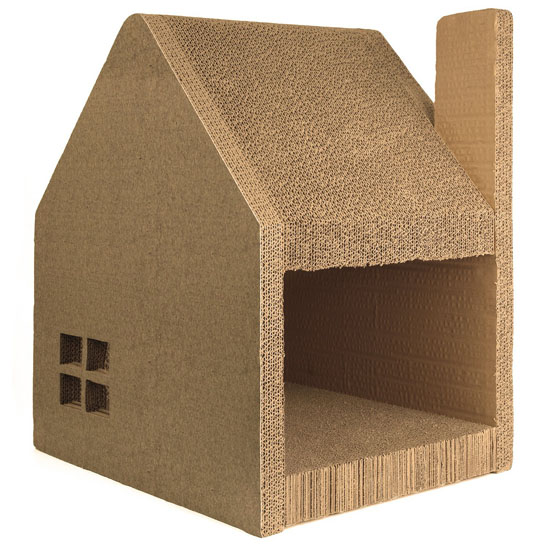 Charmant Jumbl Oversized Cat House And Cat Scratcher Station