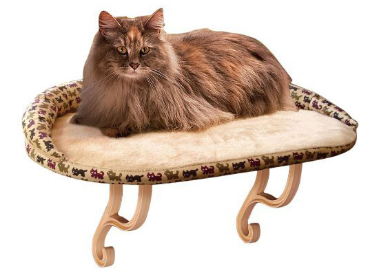 K&H Kitty Sill Deluxe Bolster Cat Bed