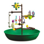 Kaytee Platime Activity Center Features 6 Adjustable Perches and Variety Toys