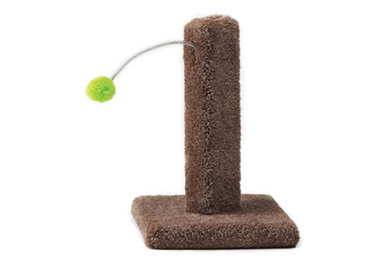 Kitty Cactus Scratch Post with Pom Pom