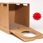 Kitty Kan 5-Pack Disposable Enclosed Litter Box : Eco-Friendly Temporary Litter Box