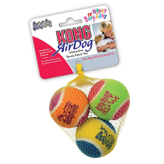 KONG Air Dog Squeakair Birthday Balls Dog Toy