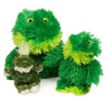 Kong Fuzzy Frog Squeaker Toy Features Easy Replacement Squeaker