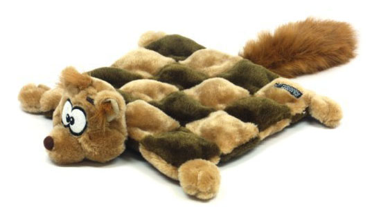 Kyjen Plush Puppies Dog Squeaker Mat Toy - Squirrel