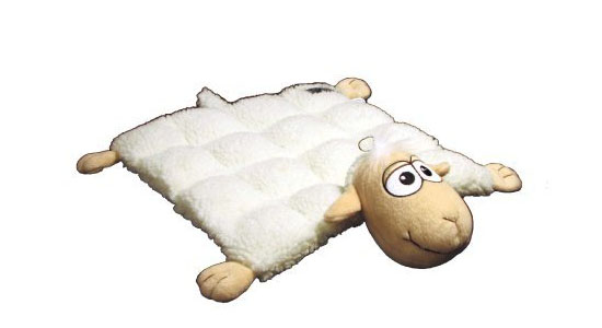 Kyjen Plush Puppies Dog Squeaker Mat Toy - Sheep