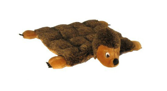 Kyjen Plush Puppies Dog Squeaker Mat Toy - Hedgehog