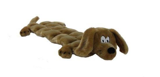 Kyjen Plush Puppies Squeaker Mat Long Body Dog Toy For
