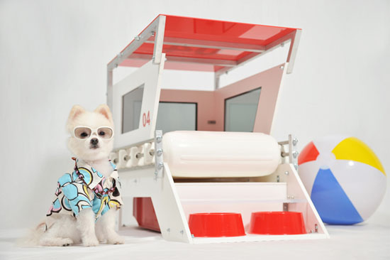 Lifeguard Doghouse by Melissa Rivera of Unleash Studio