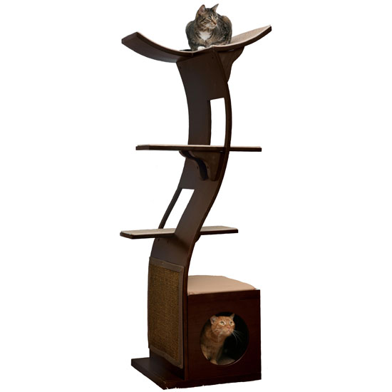 Lotus Cat Tower by The Refined Feline