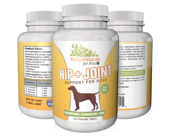 MangaNaturals Hip and Joint support for Dogs