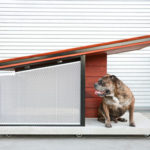 MDK9 Dog Haus : Modern Dog House with Name Plaque and Custom Dog Bedding