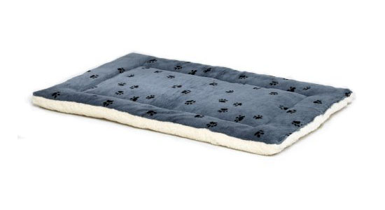Midwest Paw Print Reversible Fleece Stuffed Bed
