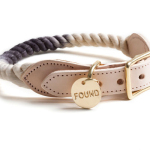Modern Black Ombre Rope Dog Collar by Found My Animal