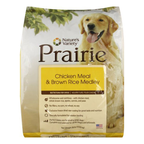 Nature's Variety Prairie Canine Chicken Meal and Brown Rice Dry Dog Food