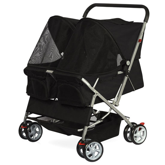 OxGord Pet Double Foldable Stroller for Dogs or Cats