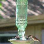 Perky Pet Antique Bottle Hummingbird Feeder Features Vintage Look and Unique Design