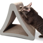 PetFusion 3-Sided Vertical Scratcher with Curves Design for Easier Scratching