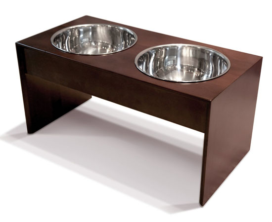 PetFusion Elevated Pet Bowl Holder in Natural Pine