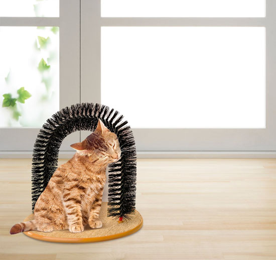 Purrfect Arch Self Groomer with Bag of Catnip