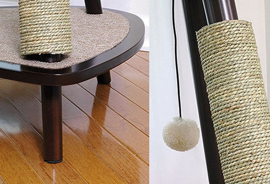Sauder 44-inch Sphere Scratch Post Cat Tree