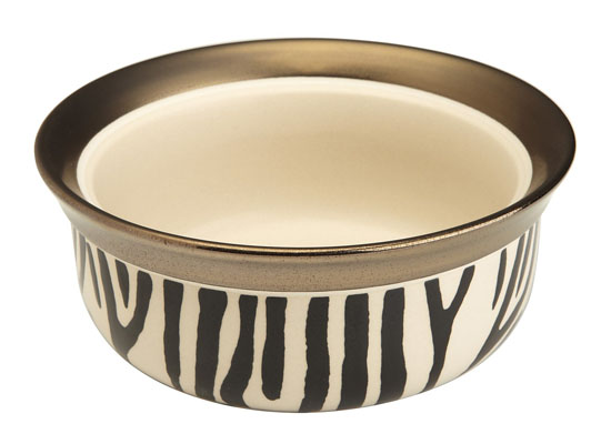 Signature Housewares Animal Print Pet Bowl - zebra