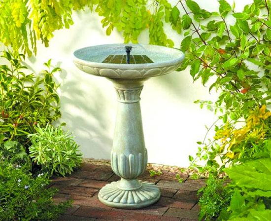 Smart Solar Birdbath Fountain